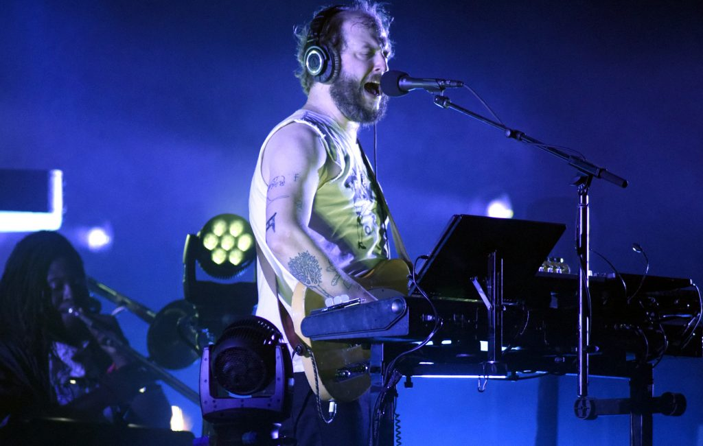 MANCHESTER, TN - JUNE 09: Justin Vernon of Bon Iver performs during the 2018 Bonnaroo Music & Arts Festival on June 9, 2018 in Manchester, Tennessee. (Photo by Tim Mosenfelder/Getty Images)